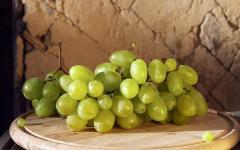Table grades of grapes in Moldova