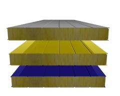 Panel sandwich for a roof in Moldova