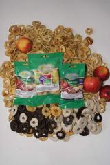 Яблоки сушеные в шоколаде с корицей