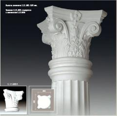 Columns for a decor in Moldova (EVROPLAST)