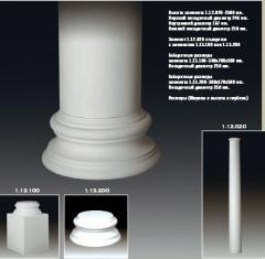 Columns from polyurethane in Moldova (Europlast)