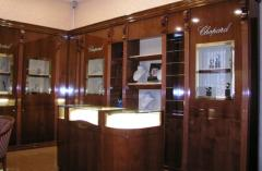 The furniture is specialized, Show-windows for