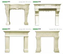 Portals for fireplaces in Chisina