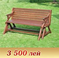 Benches garden in Chisina