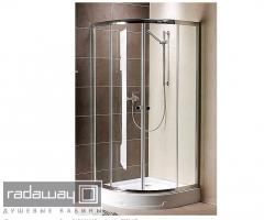 Semicircular shower cabins of RADAWAY Premium A