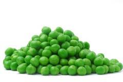 Seeds of green peas, dry peas