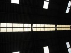 Light roof ridge of a cowshed