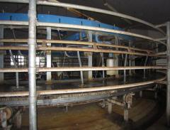 The equipment of the milking hall in Moldova, PMR