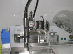 The equipment for production of the frozen sperm