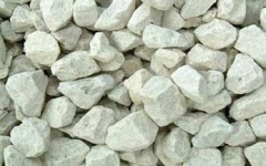 Crushed stone limy