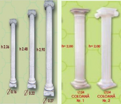 Columns are concrete decorative