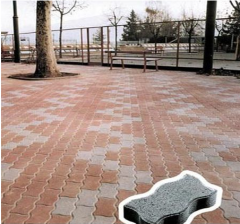 Concrete tile for paths figured