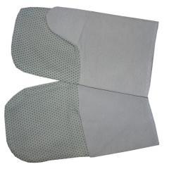 Working mittens with the tarpaulin handheld