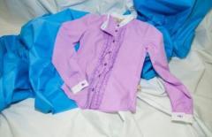 Классическая рубашка фиолетового цвета