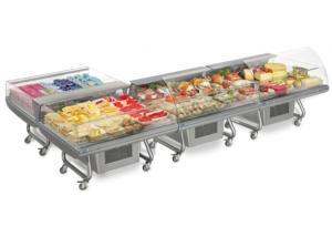 Mobile refrigerating show-window for supermarkets