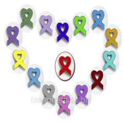 Значок- символ солидарности в борьбе с ВИЧ