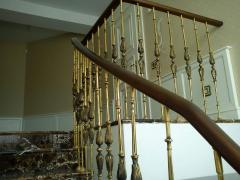 Handrail from brass