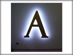 Буквы световые