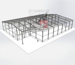 Development of drawings of a metal construction