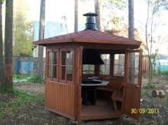 Гриль-домики деревянные