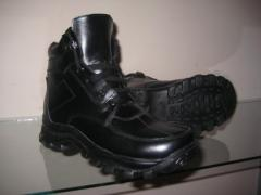 Convenient winter footwear for men. Production