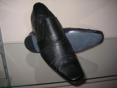 Кожаные туфли. Мужская обувь. Производство Молдова