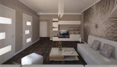 Development of interior design.