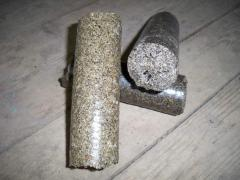Briquettes from sunflower pod