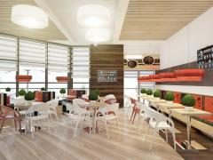 Interior design of cafe