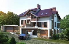 Projects of facades of houses