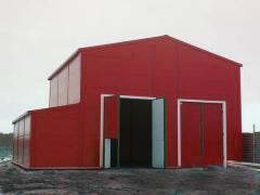 HANGÁR, hangare-Construcție  destinată
