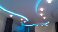 Потолок натяжной шовный в современном исполнении