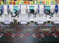 Mnogogolovochny automatic machine for classical embroidery of RPED-FN