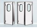 Refrigerating doors pendular