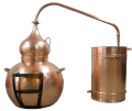 Alambik from shod copper with a column - for distillation of grass tinctures and essences 01