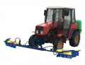 Sprayers hinged with a herbicidal bar in a basic complete set of ZUBR Nsh Gerbi/ds-2