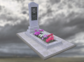 Надгробный памятник из мраморной крошки