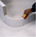 Перегородки декоративные, Тонкие блоки из автоклавного газобетона