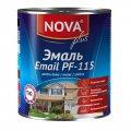 Эмаль Nova ПФ-115 шоколадная 0.8 кг Артикул 27.54