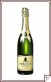 Вино игристое натуральное полусухое белое «Moldova de Lux».