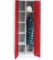 Хозяйственный металлический шкаф с жердью для одежды SMD 81