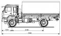 Бортовой автомобиль KAMAZ-43502-45