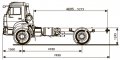 Шасси Kamaz-43502-66 (d5)