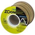 Уплотнитель Zoom самоклеющийся Zoom TLT D 9x7.5мм коричневый