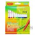 Фломастеры 12 цветов, Water Colour Pen, SCOOLOFFICE