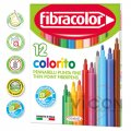 Фломастеры 12 цветов Fibracolor Colorito superlavabile 3+
