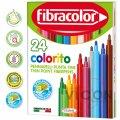 Фломастеры 24 цвета Fibracolor Colorito superlavabile 3+