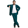 Working suit trousers + jacket FF JOEL BE-01-001 green