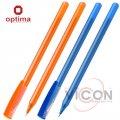 Ручка масляная OPTIMA FLAME 0,7 мм. Корпус асорти, пишет синим.