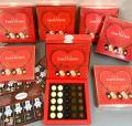Chocolate dragee I love You